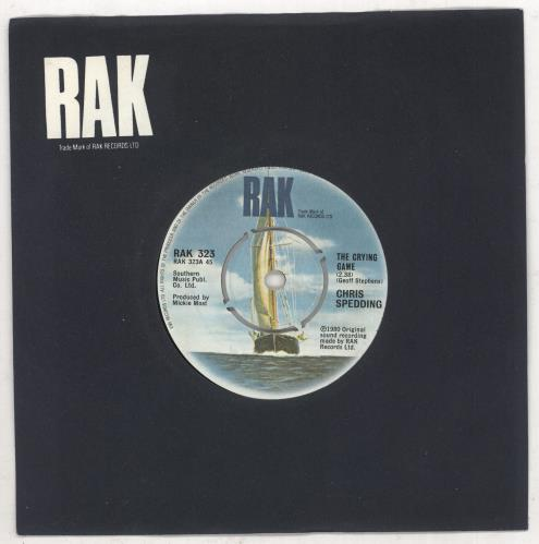 "Chris Spedding The Crying Game 7"" vinyl single (7 inch record) UK C\G07TH738702"