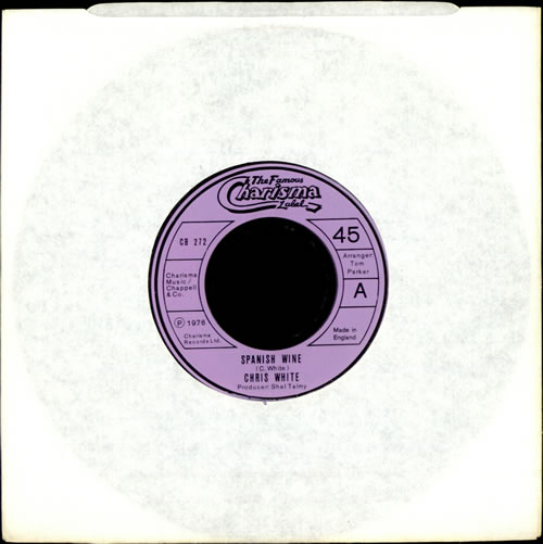 "Chris White Spanish Wine - Jukebox Issue 7"" vinyl single (7 inch record) UK CIW07SP493840"