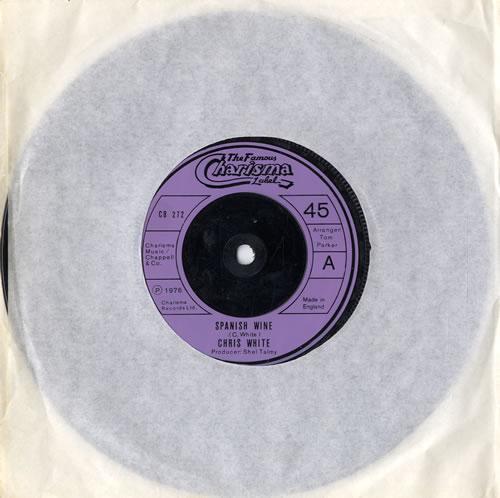 "Chris White Spanish Wine 7"" vinyl single (7 inch record) UK CIW07SP565707"