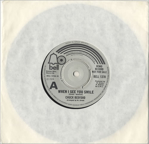 """Chuck Bedford When I See You Smile 7"""" vinyl single (7 inch record) UK CXB07WH486567"""