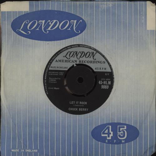 "Chuck Berry Let It Rock 7"" vinyl single (7 inch record) UK CHK07LE571127"