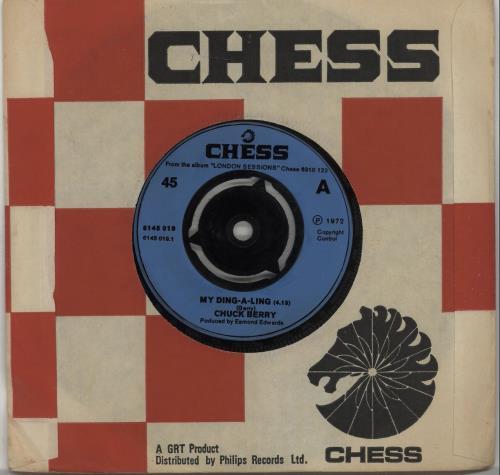 "Chuck Berry My Ding-A-Ling - 3pr Inj 7"" vinyl single (7 inch record) UK CHK07MY664577"
