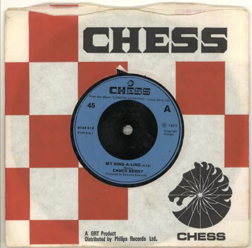"Chuck Berry My Ding-A-Ling - Injection 7"" vinyl single (7 inch record) UK CHK07MY493600"