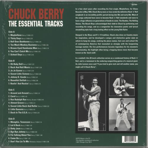 Chuck Berry The Essential Tracks 2-LP vinyl record set (Double Album) UK CHK2LTH727427