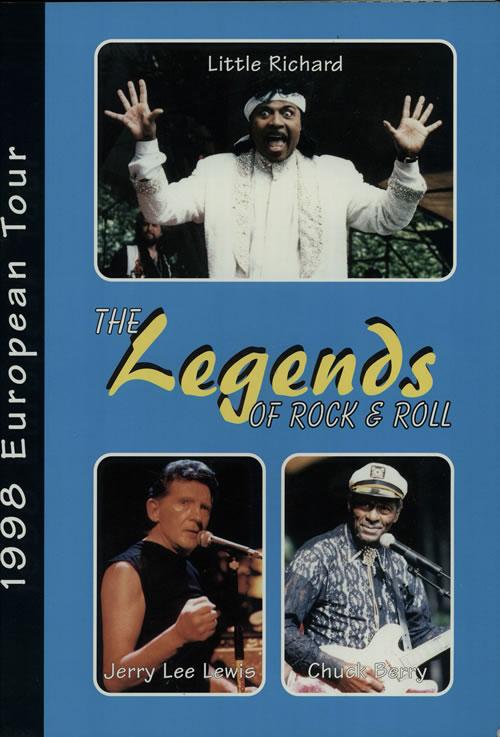 Chuck Berry The Legends Of Rock & Roll - 1998 European Tour tour programme UK CHKTRTH631175