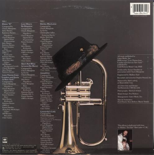 Chuck Mangione Disguise vinyl LP album (LP record) Hong Kong CMGLPDI722244