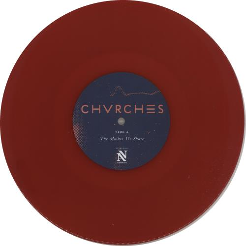 """Chvrches The Mother We Share - Red Vinyl 10"""" vinyl single (10"""" record) UK E2010TH660057"""