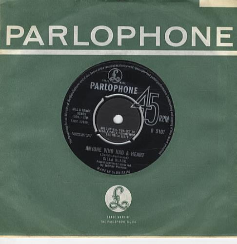 "Cilla Black Anyone Who Had A Heart 7"" vinyl single (7 inch record) UK CIL07AN294685"