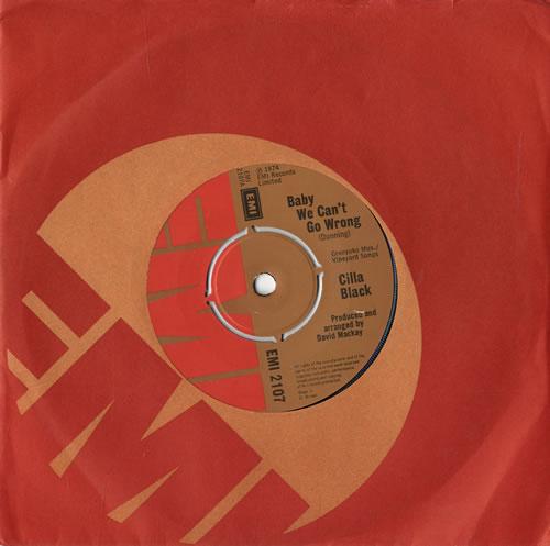 "Cilla Black Baby We Can't Go Wrong 7"" vinyl single (7 inch record) UK CIL07BA61244"