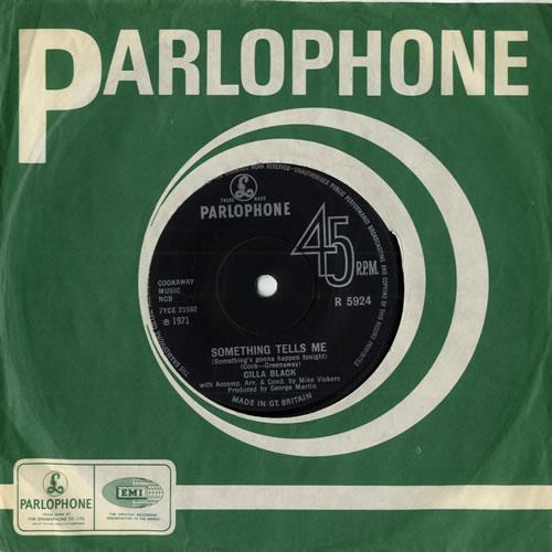 "Cilla Black Something Tells Me 7"" vinyl single (7 inch record) UK CIL07SO556921"
