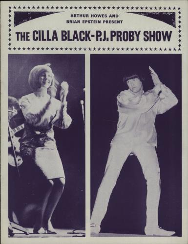 Cilla Black The Cilla Black - P.J. Proby Show tour programme UK CILTRTH668155