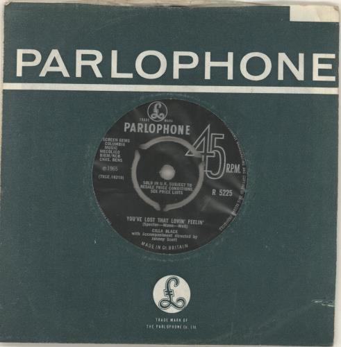 "Cilla Black You've Lost That Lovin' Feelin' - Philips 7"" vinyl single (7 inch record) UK CIL07YO294689"