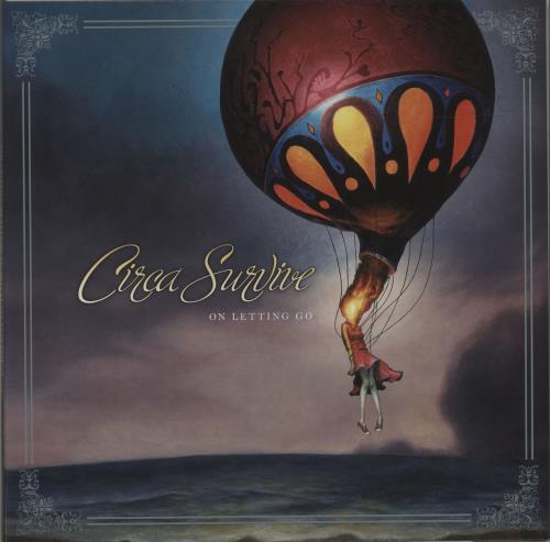 Circa Survive On Letting Go - Deluxe Ten Year Edition - Orange and White Swirl vinyl LP album (LP record) US O51LPON681162