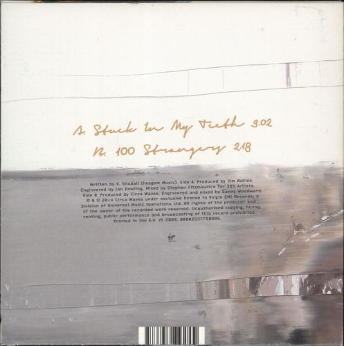 "Circa Waves Stuck In My Teeth - RSD14 - Yellow Vinyl 7"" vinyl single (7 inch record) UK G8U07ST682945"