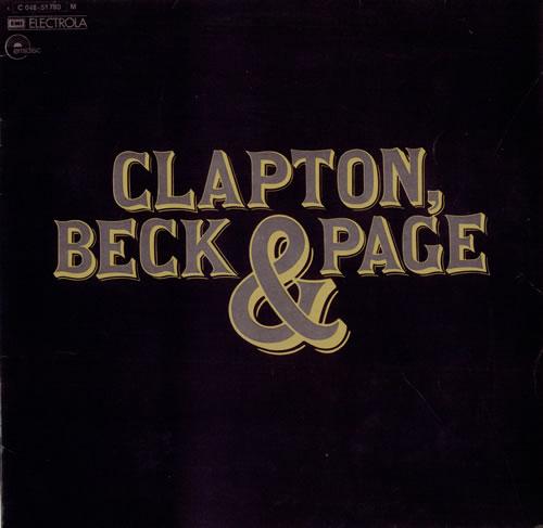 Clapton, Beck & Page Clapton Beck & Page vinyl LP album (LP record) German F3ELPCL61974