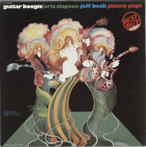 Clapton, Beck & Page Guitar Boogie vinyl LP album (LP record) Canadian F3ELPGU724588