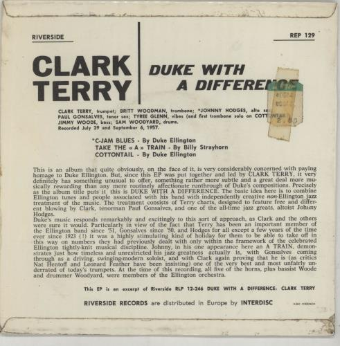"""Clark Terry Duke With A Difference EP 7"""" vinyl single (7 inch record) US CTI07DU667454"""