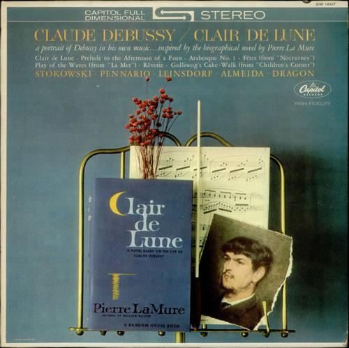 Claude Debussy Clair de Lune US vinyl LP album (LP record
