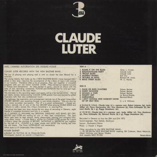 Claude Luter The New Ragtime Band Meeting Claude Luter vinyl LP album (LP record) French 2QDLPTH760362
