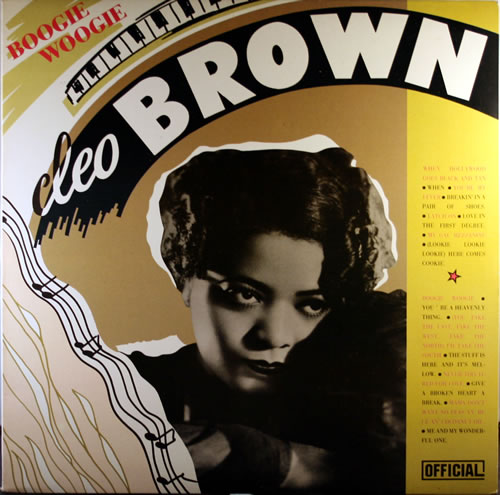 Cleo Brown Boogie Woogie vinyl LP album (LP record) Danish C6FLPBO550636