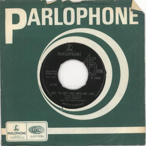 """Cliff Bennett And The Rebel Rousers Got To Get You Into My Life 7"""" vinyl single (7 inch record) UK CBN07GO723178"""