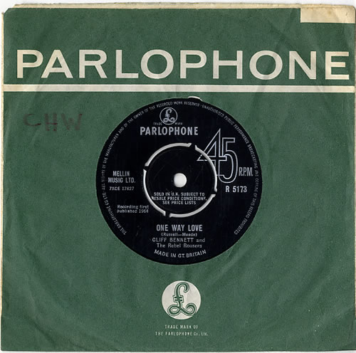 "Cliff Bennett And The Rebel Rousers One Way Love - Factory Sample 7"" vinyl single (7 inch record) UK CBN07ON628402"