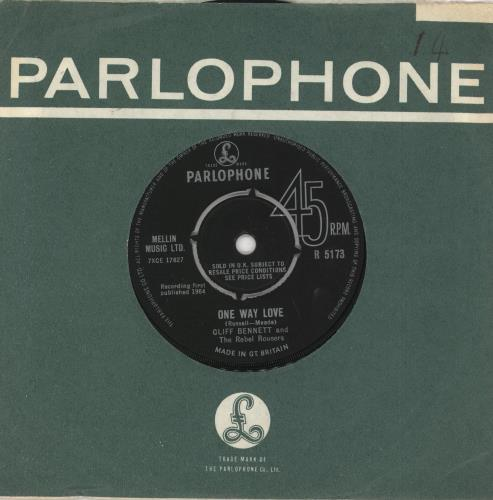 """Cliff Bennett And The Rebel Rousers One Way Love 7"""" vinyl single (7 inch record) UK CBN07ON294739"""
