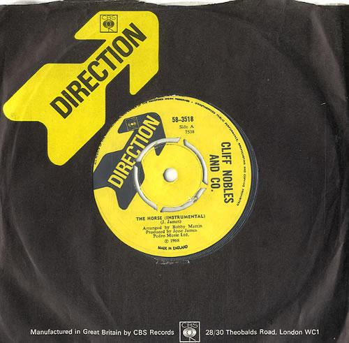 "Cliff Nobles The Horse 7"" vinyl single (7 inch record) UK E6I07TH594282"
