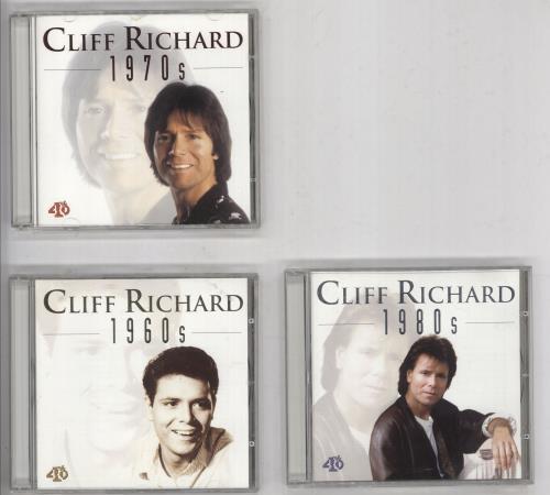 Cliff Richard 1960s / 1970s / 1980s 3-CD album set (Triple CD) Dutch RIC3CSS733823
