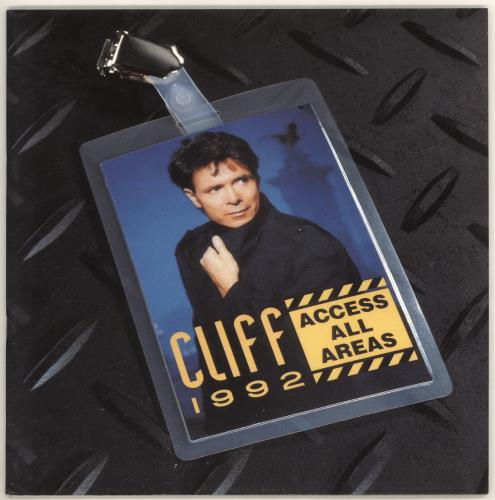 Cliff Richard Access All Areas + Flexi & Merch Insert tour programme UK RICTRAC720948