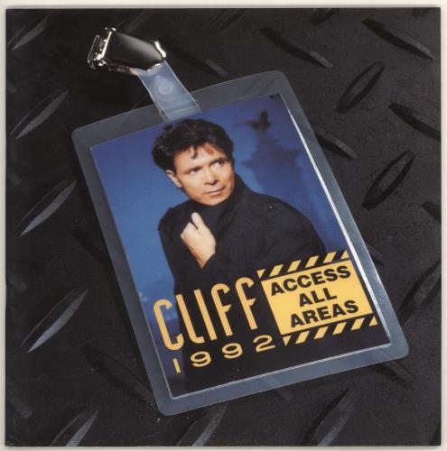 Cliff Richard Access All Areas + Flexi & Merch Insert tour programme UK RICTRAC720948