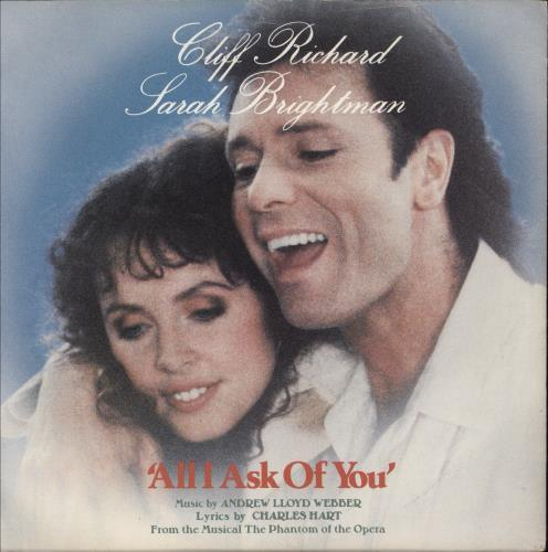 "Cliff Richard All I Ask Of You 7"" vinyl single (7 inch record) UK RIC07AL85492"