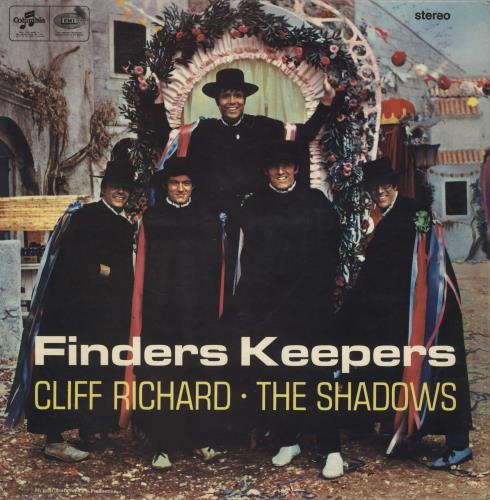 Cliff Richard Finders Keepers + inner - EX vinyl LP album (LP record) UK RICLPFI727386