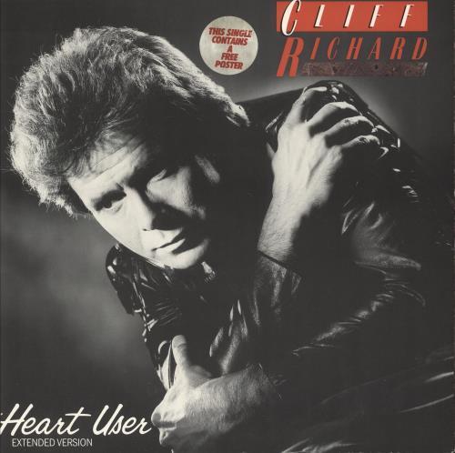 "Cliff Richard Heart User + Poster 12"" vinyl single (12 inch record / Maxi-single) UK RIC12HE740749"