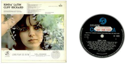 Cliff Richard Kinda Latin - 1st - Sample vinyl LP album (LP record) UK RICLPKI449306