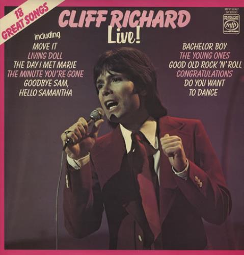 Cliff Richard Live! vinyl LP album (LP record) UK RICLPLI227625