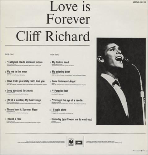 Cliff Richard Love Is Forever vinyl LP album (LP record) Belgian RICLPLO227611