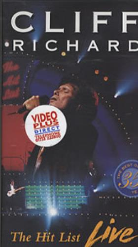 Cliff Richard The Hit List - Live video (VHS or PAL or NTSC) UK RICVITH307098