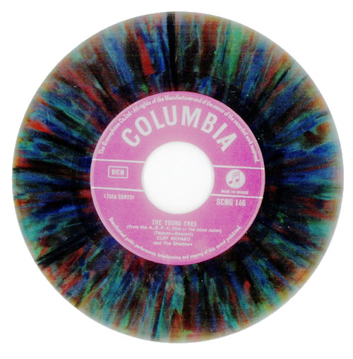 """Cliff Richard The Young Ones - Multicoloured Vinyl 7"""" vinyl single (7 inch record) Greek RIC07TH92127"""