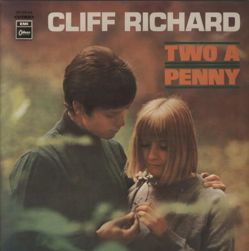 Cliff Richard Two A Penny vinyl LP album (LP record) Japanese RICLPTW224664
