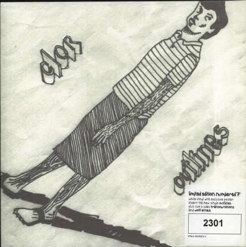 """Clor Outlines - White Vinyl 7"""" vinyl single (7 inch record) UK CL007OU328913"""
