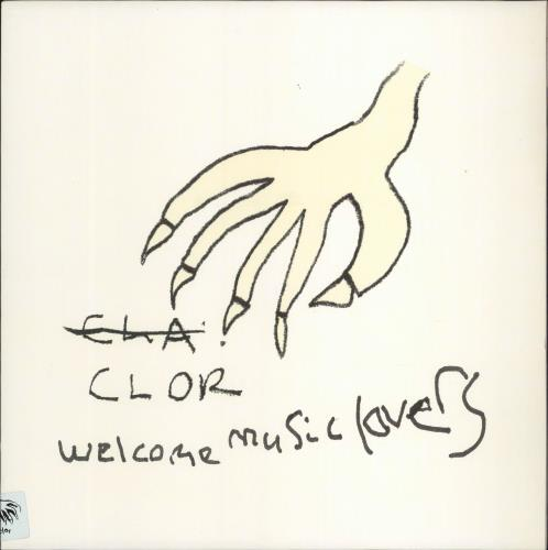 """Clor Welcome Music Lovers 12"""" vinyl single (12 inch record / Maxi-single) UK CL012WE772693"""
