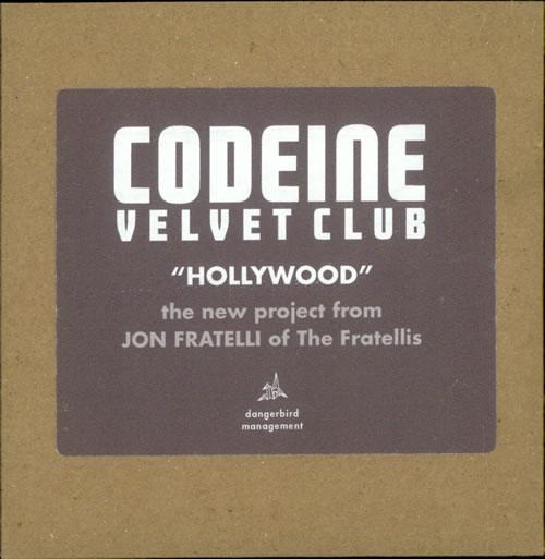 Codeine Velvet Club Hollywood CD-R acetate US CVXCRHO510047