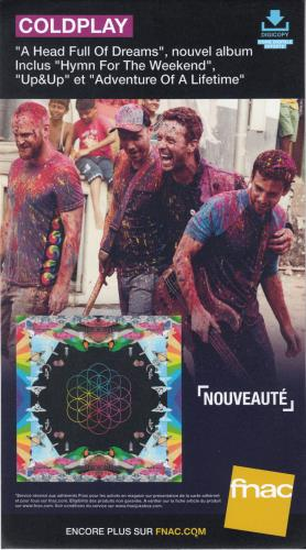 Coldplay A Head Full Of Dreams display French DPYDIAH658034