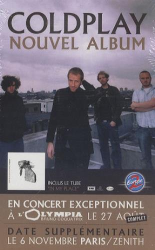 Coldplay A Rush Of Blood To The Head display French DPYDIAR229897