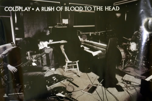 coldplay a rush of blood to the head uk promo poster 241446