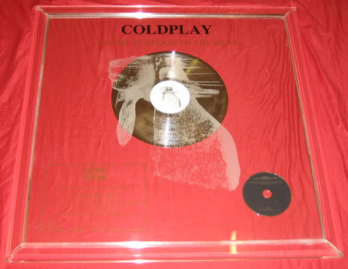 Coldplay A Rush Of Blood To The Head award disc Mexican DPYAWAR350609