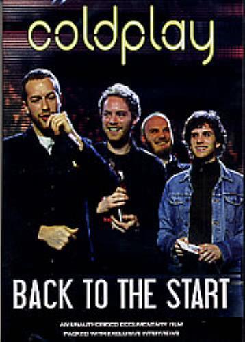 Coldplay Back To The Start DVD UK DPYDDBA278589