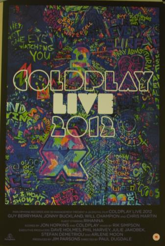 Coldplay Coldplay Live 2012 poster UK DPYPOCO645804