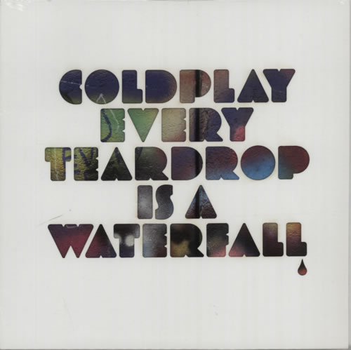 "Coldplay Every Teardrop Is A Waterfall - Blue Vinyl - Sealed 7"" vinyl single (7 inch record) US DPY07EV601807"